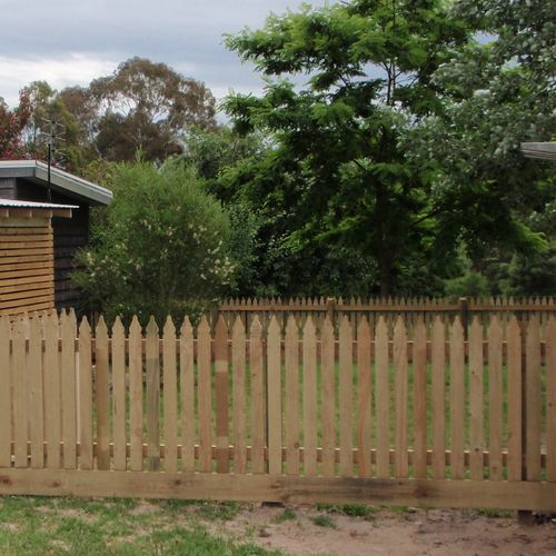 Picket fencing product range gippsland treated pine
